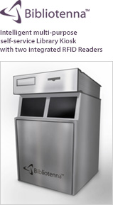 Bibliotenna - Library Kiosk with two integrated RFID Readers